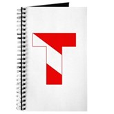 Scuba Flag Letter T Journal