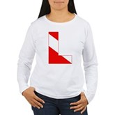 Scuba Flag Letter L Women's Long Sleeve T-Shirt