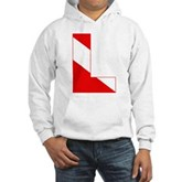Scuba Flag Letter L Hooded Sweatshirt