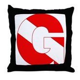 Scuba Flag Letter G Throw Pillow
