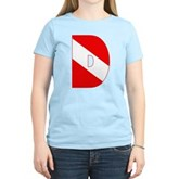 Scuba Flag Letter D Women's Light T-Shirt
