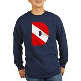 Scuba Flag Letter D Long Sleeve Dark T-Shirt