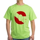 Scuba Flag Letter C Green T-Shirt