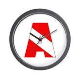 Scuba Flag Letter A Wall Clock