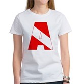 Scuba Flag Letter A Women's T-Shirt