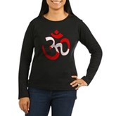 Scuba Flag Om / Aum Women's Long Sleeve Dark T-Shi