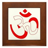 Scuba Flag Om / Aum Framed Tile
