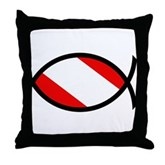 Scuba Flag Ichthys Throw Pillow