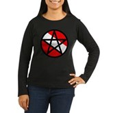 Scuba Flag Pentagram Women's Long Sleeve Dark T-Sh