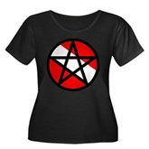 Scuba Flag Pentagram Women's Plus Size Scoop Neck