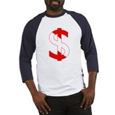 Scuba Flag Dollar Sign Baseball Jersey