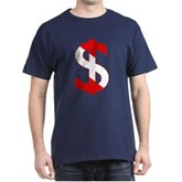 Scuba Flag Dollar Sign Dark T-Shirt