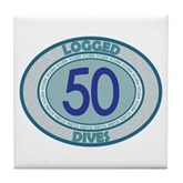 50 Logged Dives Tile Coaster