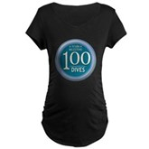 100 Dives Milestone Maternity Dark T-Shirt