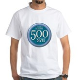 500 Dives Milestone White T-Shirt