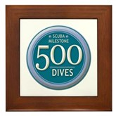 500 Dives Milestone Framed Tile