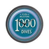 1000 Dives Milestone Wall Clock