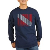 Barcode Dive Flag Long Sleeve Dark T-Shirt