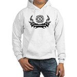 Fire Dept Tattoos Hooded Sweatshirt