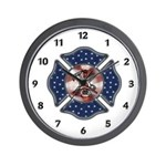 Firefighter USA Wall Clock