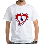Heart Service Flag - Soldier White T-Shirt
