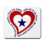 Heart Service Flag - Soldier Mousepad