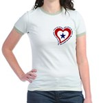 Heart service Flag - Airman Jr. Ringer T-Shirt