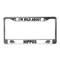 Hippo License Plate Frames