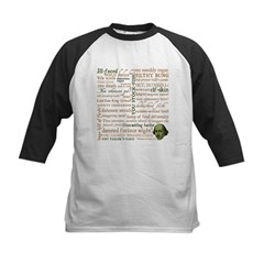 Shakespeare Insults T-shirts & Gifts Kids Baseball Jersey