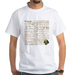 Shakespeare Insults T-shirts & Gifts White T-Shirt