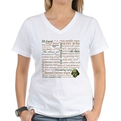Shakespeare Insults T-shirts & Gifts Women's V-Neck T-Shirt