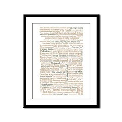 Shakespeare Insults T-shirts & Gifts Framed Panel Print
