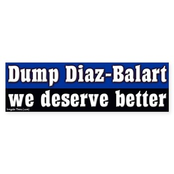 Dump Mario Diaz-Balart Bumper Sticker.  Florida deserves better!