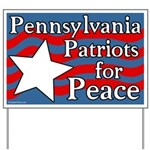 Pennsylvania Patriots for Peace Yard Sign