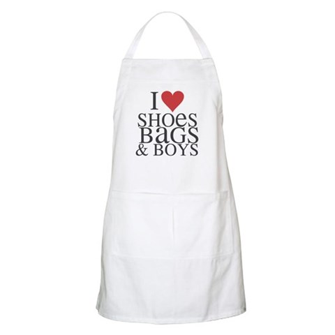 I LOVE SHOES, BAGS & BOYS - BBQ Apron