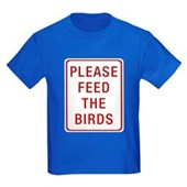 Please Feed the Birds Kids Dark T-Shirt