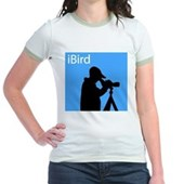 iBird (blue) Jr. Ringer T-Shirt