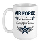 Husband Defending Freedom AF Large Mug