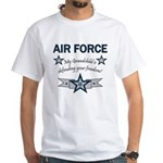 Air Force Grandchild defending White T-Shirt