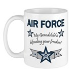 Air Force Grandchild defending Mug