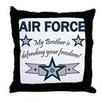 Air Force Brother defending Throw Pillow