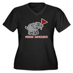 Future Republican Women's Plus Size V-Neck Dark T-