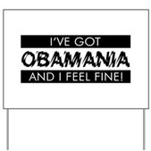 Crazy about Barack Obama? The dynamic Democrat from Illinois is running for President. Support your 2008 campaign pick with this whimsical design that declares I've got OBAMANIA and I Feel Fine!