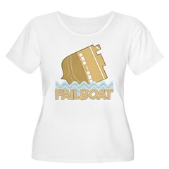 Fail Boat Women's Plus Size Scoop Neck T-Shirt
