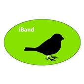  iBand (green) Oval Sticker