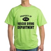 Rescue Diving Department Green T-Shirt