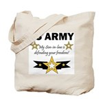 Son-in-law defending freedom Tote Bag