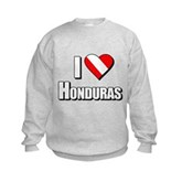  Scuba: I Love Honduras Kids Sweatshirt