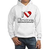  Scuba: I Love Honduras Hooded Sweatshirt