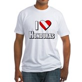Scuba: I Love Honduras Fitted T-Shirt
